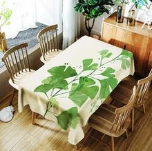 simanfei modern decorative table cloth rectangle tablecloth home kitchen square printing party banquet dining table cover Nordic modern polyester rectangle green leaf tablecloth cover cloth coffee table cover cloth dining table cloth room decoration