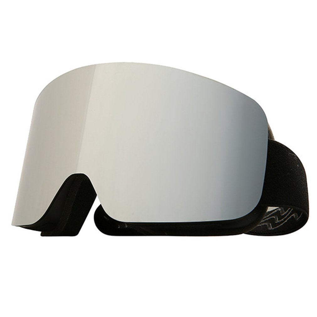 Cylindrical Real Film Ski Goggles Double Layer Anti-fog Snow Goggles Full Face Nose Shield Durable Goggles