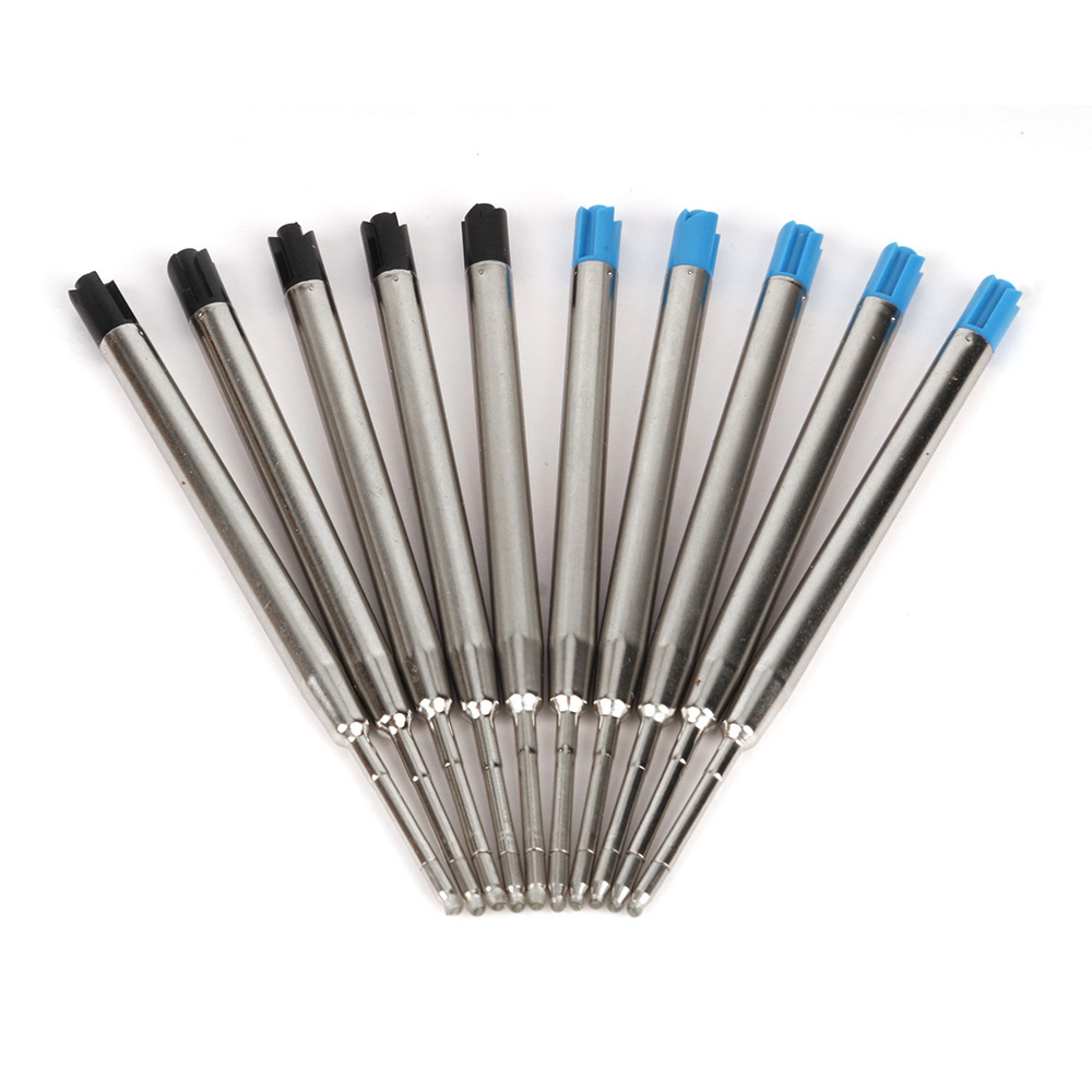 5Pcs/lot Pen Refills Black/Blue Ink For Self-Defense Metal Cartridge Ball Point Tactical Pen Self Defense Supplies Accessories