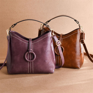 Image 3 - ヴィンテージ本革の高級ハンドバッグの女性のバッグデザイナーハンドバッグ高品質のクロスボディバッグ 2019 女性のハンドバッグ