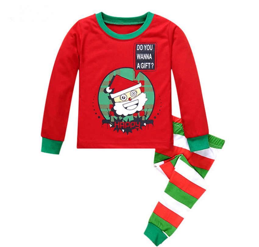جديد بيجامات للأطفال الأطفال ملابس خاصة طفل الفتيات ملابس الأولاد الكرتون منامة مجموعات القطن ملابس نوم الاطفال ملابس هدايا عيد الميلاد
