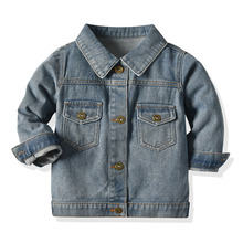 Top and Top New Fashion Infant Unisex Boys Girls High-Quality Buttonned Long Sleeve Denim Jacket&Coat Casual Daily Outerwear