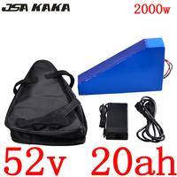 Free duty 52V 1000W 1500W 2000W electric bike Triangle battery 52V 20AH Lithium Battery with 50A BMS and 58.8V 5A fast charger