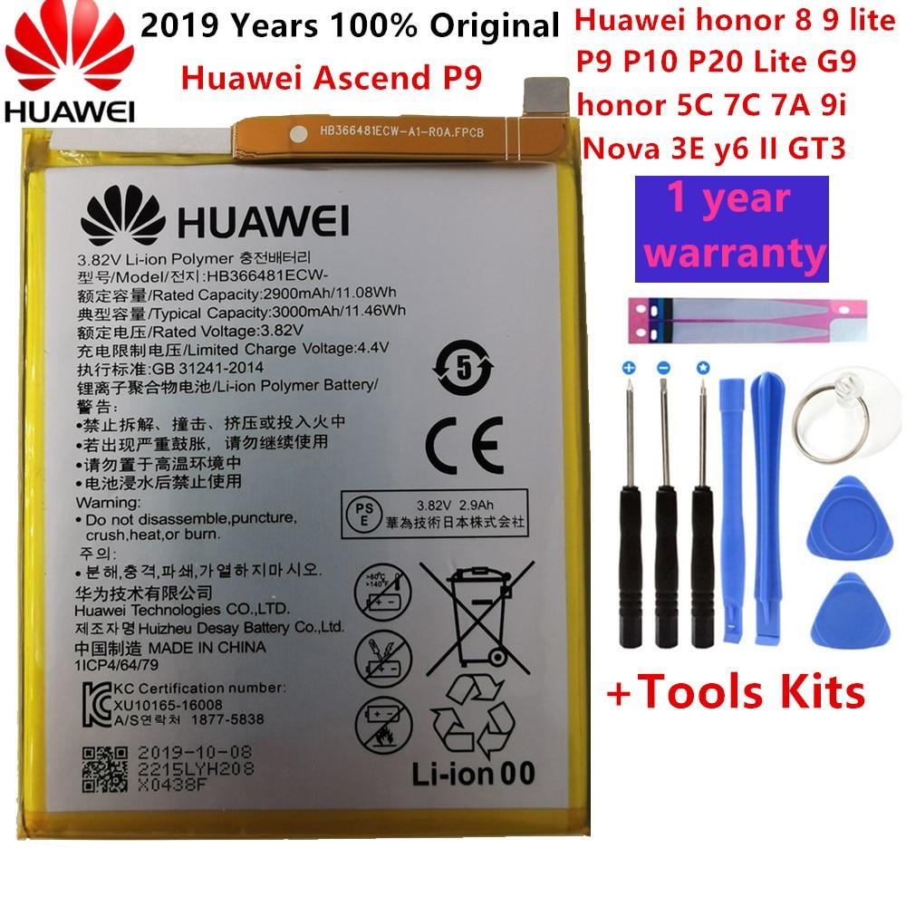 Hua Wei 100% Original Real 3000mAh HB366481ECW Battery For Huawei P Smart 5.6