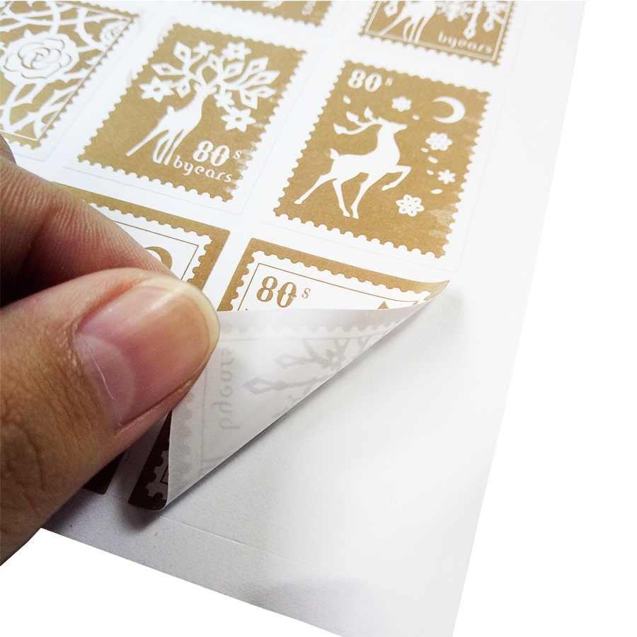 150 ชิ้น/ล็อตกวางและสาวทองรูปร่างรูปร่างแสตมป์ DIY มัลติฟังก์ชั่สติกเกอร์บรรจุภัณฑ์ของขวัญป้ายสะสม Scrapbooking