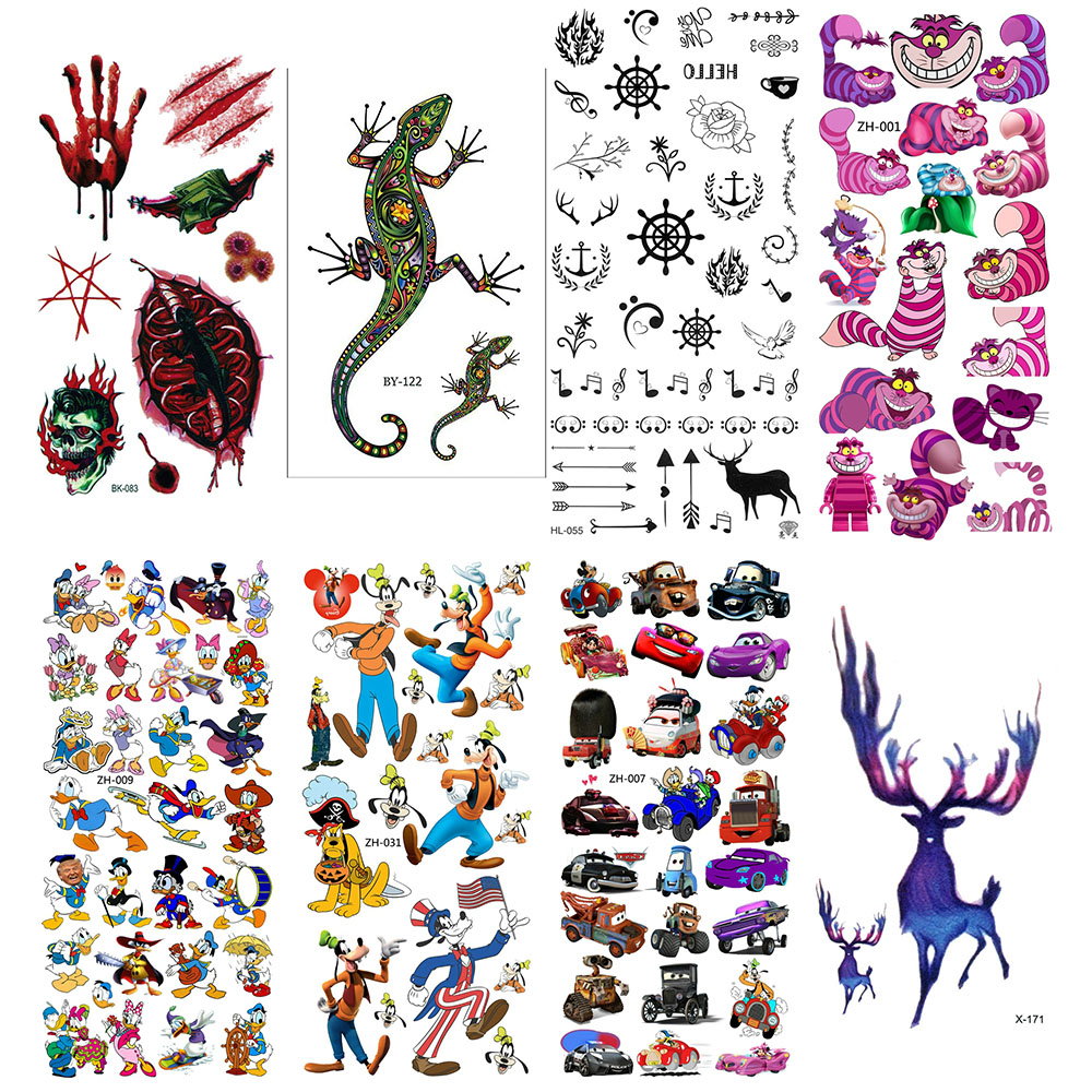 Sleeve Tattoo Tatoo Temporaire Femme Waterproof Stickers Kids Sticker Cool Tattoos For Hand Girl Tatto Temporary Fake