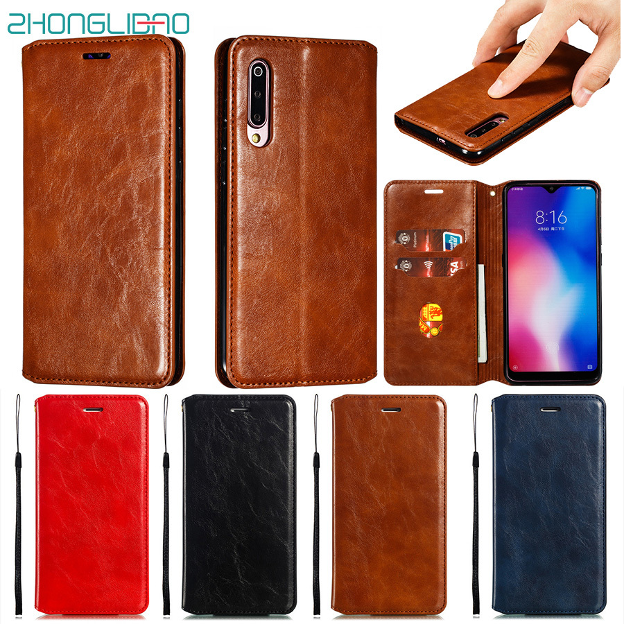 Magnetic Wallet Case for <font><b>Xiaomi</b></font> Redmi K20 Note 8 7 6 5 Pro 6a 8a 7a Go Xiami Mi 9 Se 8 A2 Lite 9t Pro Flip Leather Book Cover image