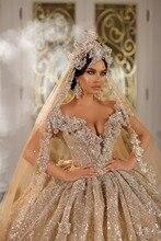 Eslieb vestido de novia brillante, hecho a medida, 2020