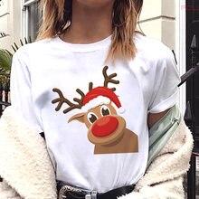 Женская обувь в стиле Харадзюку; Модная Рождественская футболка