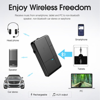 5 3 Bluetooth 5.0 Receiver Transmitter 3.5mm AUX Jack RCA A2DP Stereo Music 2 IN 1 Wireless Adapters For Car Home Stereo TV Speaker (3)