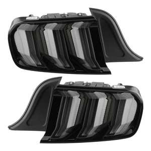 VLAND Pair Euro Look 5 Modes Full LED Dynamic Tail Lights Smoked Lens Fit for Ford Mustang 2015-2020