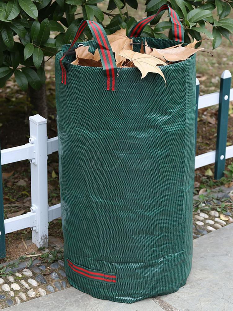 Gallons Garden Bag Large Capacity Reusable Heavy Duty Gardening Bags Leaf Waste Bag for Yard Lawn Pool Cleaning 120L Yard Waste Bins     - title=
