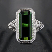 Hot selling exquisite new retro girl 18K gold inlaid Tourmaline Ring(China)