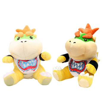 7 inches 18cm super mario bros koopa bowser plush toys with tag high quality gift for children 2 styles 18cm Game Super Mario Bowser Koopa Bowser JR Stuffed Plush Toys Fire Dragon Stuff Plush Doll Toys