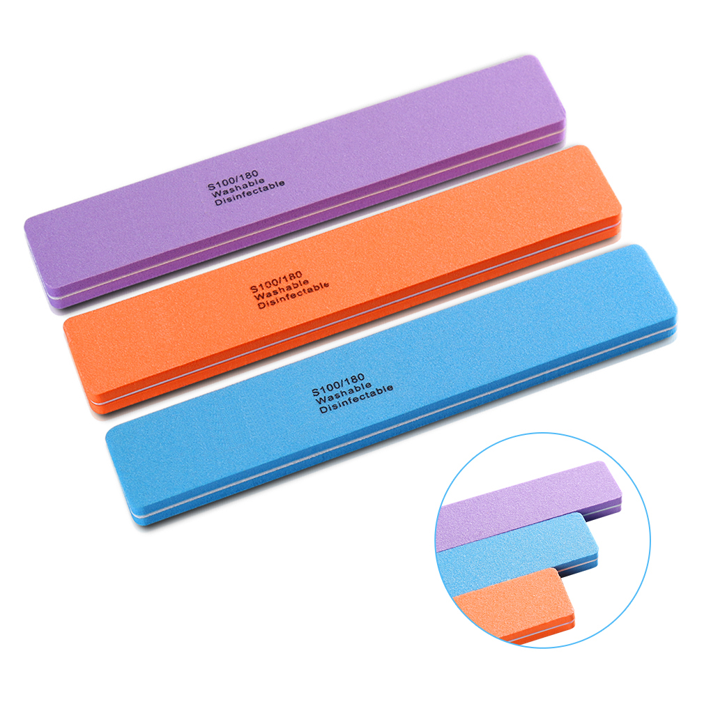 Nail Buffer File Manicure Pedicure Colorful Sanding Buffer Block Double-sided Professional Buffing Block Nail Art Tool