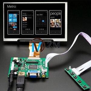 7-дюймовый дисплей 1024*600 ЖК-монитор с пультом дистанционного управления, 2AV HDMI VGA для Raspberry Pi Banana/Orange Pi