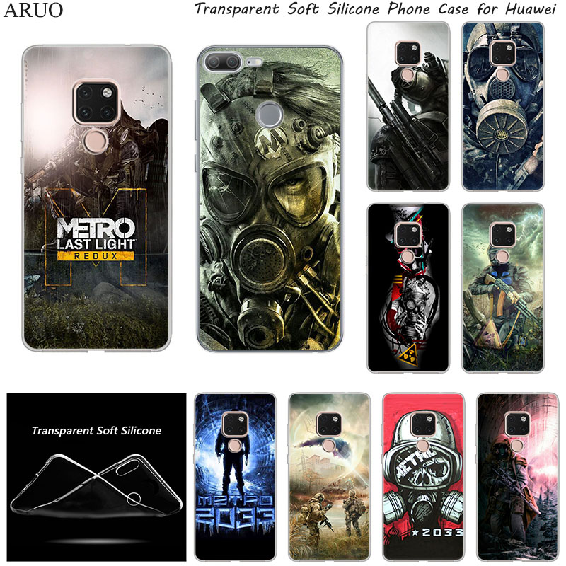 Hot Game <font><b>Metro</b></font> <font><b>2033</b></font> SOFT TPU Silicone phone case for Huawei P8 P9 P10 Mate 10 20 <font><b>9</b></font> Lite 20X <font><b>honor</b></font> 7A 7S 7X Play 3 Enjoy-8E cover image