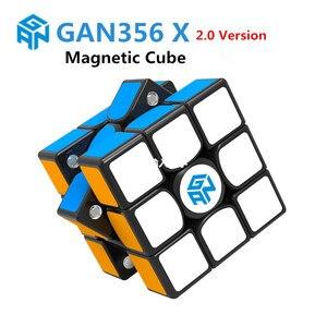 Image 1 - GAN 356 Air SM X 3x3x3 puzzle magnetyczne magiczna kostka profesjonalne gan356 x kostka magico gan354 M magnesy kostka gan 356 R S