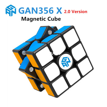 GAN 356 SM 3X3x3x3 magnético rompecabezas cubo mágico profesional gan356 x speed cubo mágico gan354 M imanes cubo gan 356 R S