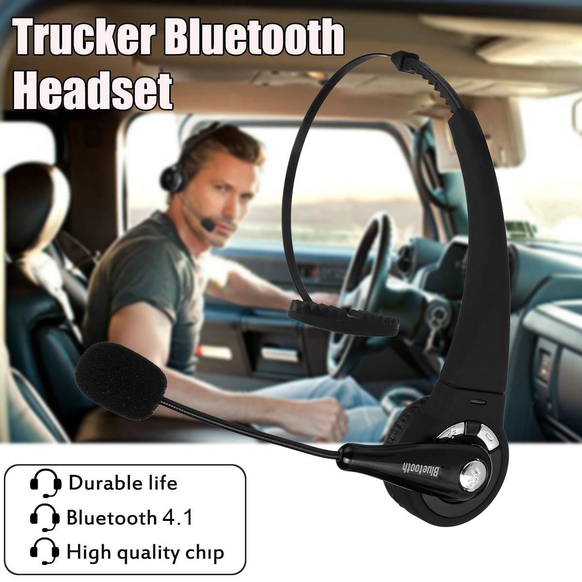 Над головой Шум шумоподавления наушники вызо bluetooth Беспроводной гарнитура с микрофоном хэндс-фри наушники для дальнобойщиков драйвера