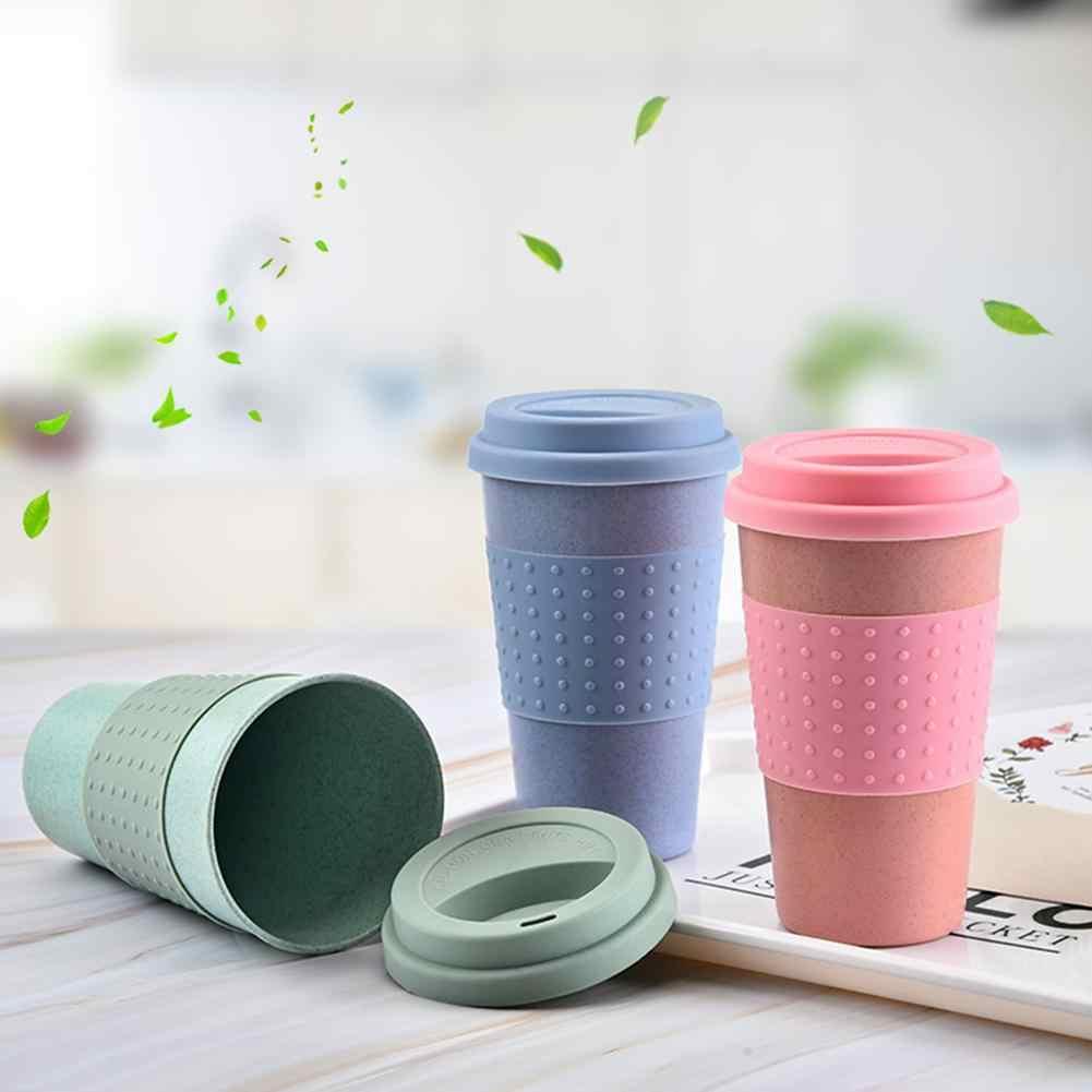 Himiss Tarwe Stro Cup Single-Layer Tarwe Stro Cup Effen Kleur Eenvoudige Voor Tandenborstel Beker Drinken Gebruik