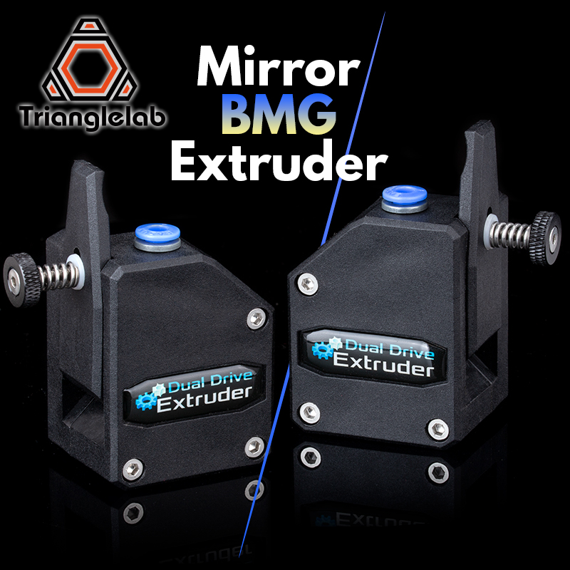 Trianglelab Esquerda Espelho BMG extrusora Bowden Extrusora Dual Drive Clonado Btech Extrusora para impressora 3d impressora para 3D MK8