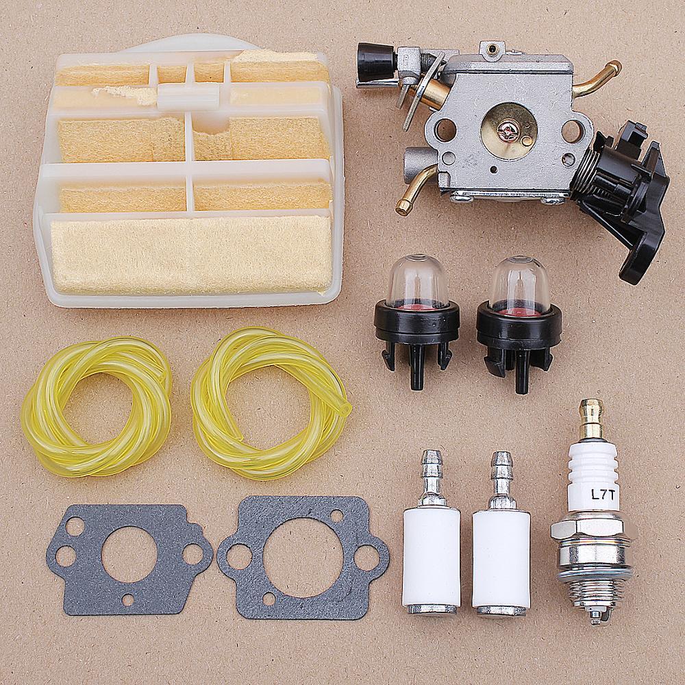 Carburetor Air Fuel Line Filter Kit For Husqvarna 445 450 445E JONSERED CS2245S 506450401 ZAMA C1M-EL37B CARB Chainsaw 506450401