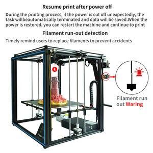 Image 4 - Tronxy ulepszony nowy X5SA 24V 3D drukarki zestawy DIY Auto poziom duży rozmiar wydruku ciepła łóżko 3d maszyna Filament drukowanie Facesheild