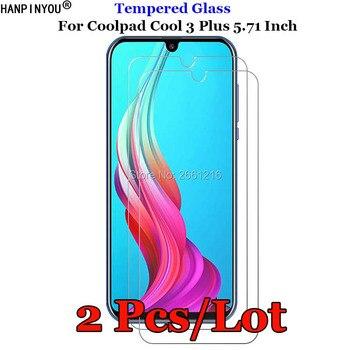Перейти на Алиэкспресс и купить 2 шт./партия для Coolpad Cool 3 Plus твердое закаленное стекло 9H 2.5D Защитная Пленка премиум класса для экрана Coolpad Cool 3 Plus 3 Plus 5,71дюйм