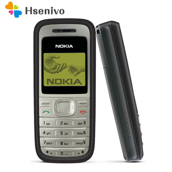 Original Nokia 1200 unlocked gsm 900/1800 mobile phone with russian HEBREW polish language Refurbished free shipping - discount item  10% OFF Mobile Phones