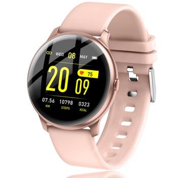 LIGE 2019 nouvelle couleur écran étanche femmes montre intelligente hommes fréquence cardiaque surveillance de la pression artérielle Smartwatch relogio inteligente