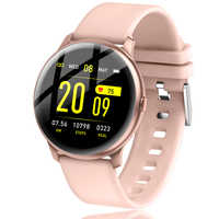 LIGE 2019 nueva pantalla a Color resistente al agua para mujer reloj inteligente hombres control de la presión arterial reloj inteligente