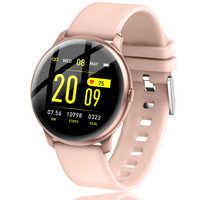 LIGE 2019 nuevo reloj inteligente a prueba de agua para mujer con pantalla a Color para hombres, control de la presión arterial, reloj inteligente