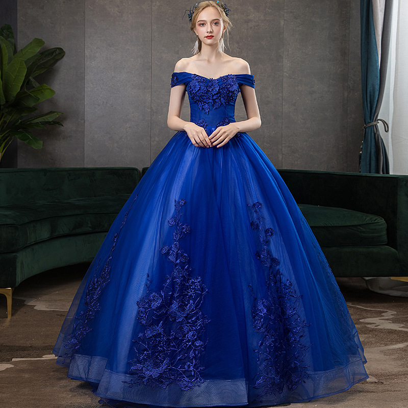 Off The Shoulder Quinceanera Dresses Royal Blue  Vestido De Quincianera Sweet 16 Dresses  Ball Gown Dresses Vestido Debutante