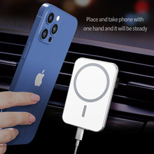 car phone holders phones 15W Magsafing car mount wireless charger is suitable for iphone 12 car magnetic wireless charging stand