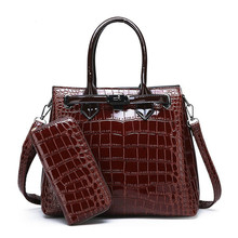 Hot 2020 Womens Shoulder Bag Luxury High Quality Classic Crocodile Pattern Handbag Brand Designer Large Capacity Messenger Bag