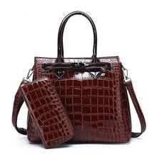 Hot 2020 damska torba na ramię luksusowa wysokiej jakości klasyczna torebka z wzorem krokodyla marka projektant torba o dużej pojemności
