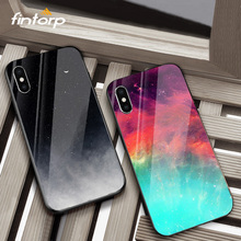 Funda Case for iPhone XR XS Max X Cases Tempered Glass Cover Coque for iPhone 7 8Plus Phone Case for iPhone7 8 Plus 6 iPhone6S цена