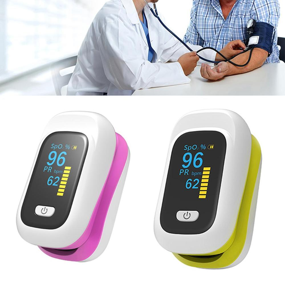 Display OLED Fingertip Blood Pulse Oximeter Medical Heart Rate Monitor Fingertip Portable Pulse Oximeter