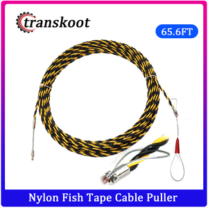 Image 1 - 6.5mm*20m Nylon Fish Tape Electric Cable Push Puller Conduit Ducting Cable Rodder Wire Guide electric cable Wire extension cord