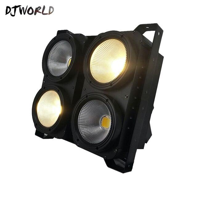 Kombinasyon 4x100W 4 LED gözler Kör Işık COB Soğuk/Sıcak Beyaz LED Yüksek Güç Profesyonel Sahne Aydınlatma parti için Dans Pisti