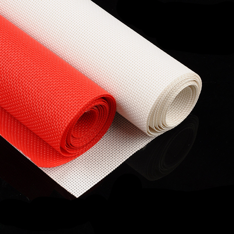 White/Red 14CT Embroidery Aida Cloth Fabric Cross Stitch Aida Cloth Fabric Aida Plastic Cloth For DIY Handmade Embroidery