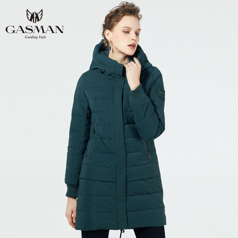 GASMAN 2019 Coat Jacket Down Winter Women's Hooded Warm   Parkas   Coat Hight Quality Female New Winter Collection Windproof Jacket