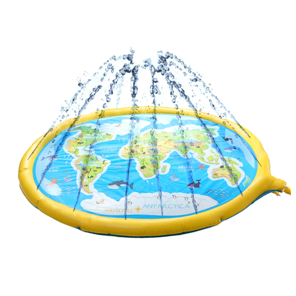 Portable Summer Spray Water Cushion Baby Water Playing Mat Games Beach Mat Spray Water Pad Lawn Outdoor Tub Swimming Pool
