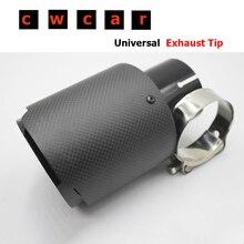 1 шт. 76 мм выход универсальный наконечник выхлопной трубы ak наконечник углеродного волокна+ черная краска глушитель наконечник