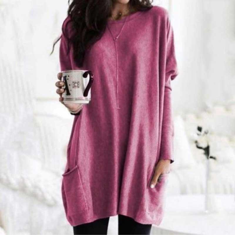 2019 Autumn Oversized T Shirt Women Long Sleeve T Shirt Female Plus Size T-shirt Tee Shirt Femme Big Size Long Tshirt Women