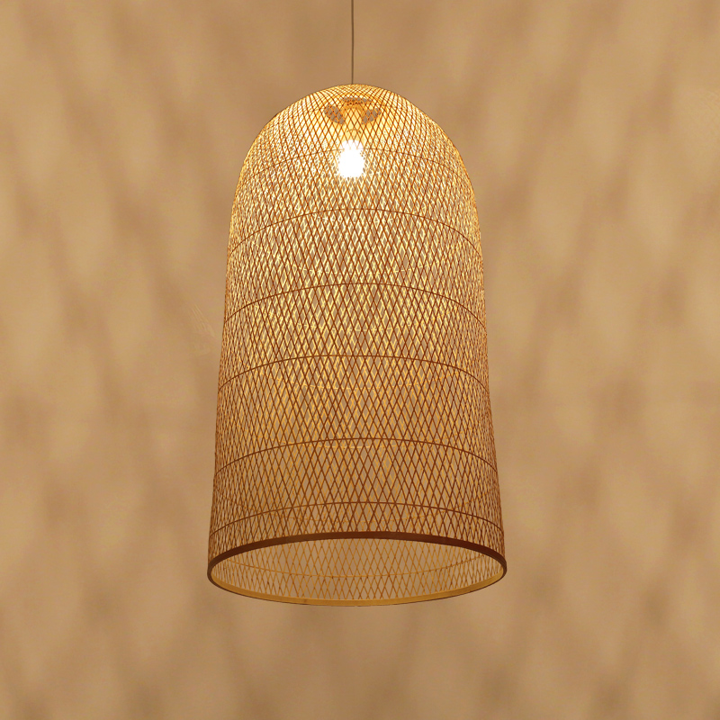 Vintage Bamboo Art Pendant Lights Wood Wicker Chinese Pendant Lamp Suspension Home Indoor Dining Room Kitchen Fixtures Luminaire|Pendant Lights| |  - title=