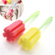 Sponge-Brush Cleaning-Tools Kitchen Household Glass Cup 1PCS Long-Handle Color-Random