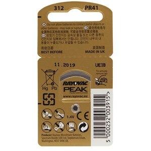 Image 5 - שמיעה 30PCS/5 כרטיסי RAYOVAC PEAK A312/312/PR41 אבץ אוויר batterie 1.45V גודל 312 קוטר 7.9mm עובי 3.6mm