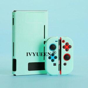 Image 2 - IVYUEEN renkli koruyucu sert çanta Nintendo anahtarı NS konsolu için yeşil Nintendo anahtarı Joy Con Joy Con geri kabuk kapak